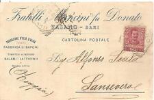 FASANO - Bari -  Fratelli Mancini fu Donato_Olio D'Oliva_Saponi_Salami_Latticini