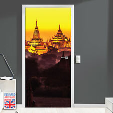High Quality Golden temple Self-adhesive Door Mural Stickers Interior UK Made