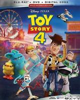 Toy Story 4 (2019) Blu Ray + DVD + Digital Code w/ Slip Cover Factory Sealed NEW
