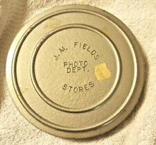 Pre Owned Vintage J. M. Fields Department Store 6 Inch Silver Film Canister