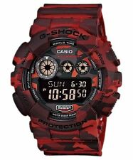 Casio G-shock Mens Watch Gd120 Digital Camouflage Red Gd-120cm-4d