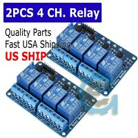 2X 4 Channel DC 5V Relay Switch Board Module for Arduino Raspberry Pi ARM DSP