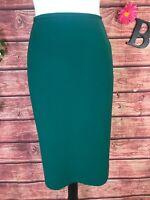 Le Suit Skirt size 14 Petite Green Straight Pencil Knee Classic Career Suit Slim