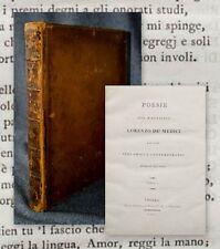 1801 poesía del il maestro Lorenzo de 'Medici, e di altri suoi Amici e.... 2 en 1