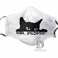 Cute Cat EW, PEOPLE Funny Washable Reusable Face Mask