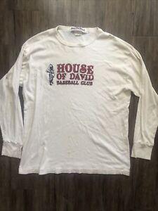 Vintage Ebbets Field Flannels House Of David Baseball Club Shirt Men's Sz L