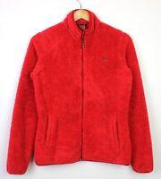 Helly Hansen Womens Red Teddy Bear Style Zip Up Outdoor Fleece Jacket - M