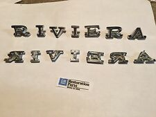 1968 1969 RIVIERA FENDER LETTERS EMBLEMS NEW PAIR 68 69  ***U.S.A MADE***