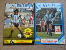 COVENTRY CITY vs MAN Utd MANCHESTER UTD 1992 1990 football programme job lot