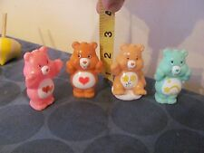 Care Bears lot of 4 2 1/2 inch cake toppers miniatures NICE