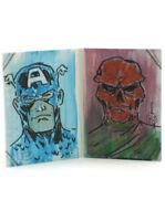 2014 Marvel Premier Captain America Sketch Card Jimenez Upper Deck UD Hinge 1/1