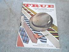OCT 1961 TRUE vintage mens adventure magazine --- RAYMOND LOWEY FASHION