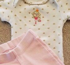 SWEET CARTER'S PREEMIE 2PC PINK BALLERINA MONKEY FOOTED OUTFIT REBORN