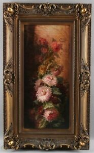 Antique still life oil painting, Clement Gontier (French, 1876-1918)