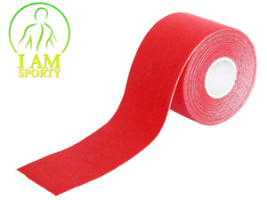 (0,798€/m) Kinesiologie Tape 5cm x 5m ROT Tapes Taping Klebeband Tapeverband