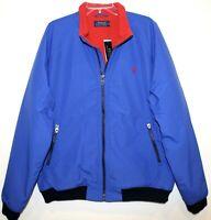 Polo Ralph Lauren Mens 2XL XXL Blue Red Fleece Lined Bomber Jacket NWT 2XL XXL