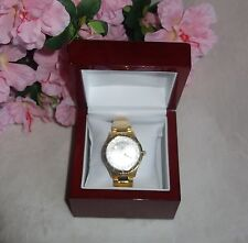 Timepieces by Randy Jackson gold Stainless Steel Watch Swiss Movement NEW