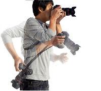 Digital Camera Black Quick Rapid Shooting Single Shoulder Neck Sling Strap Belt