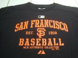 San Francisco SF Giants MLB Baseball Authentic T-Shirt by Majestic Mens Medium