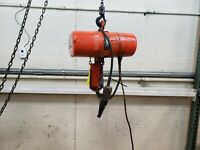 CM LODESTAR MODEL L Electric CHAIN HOIST 1/2 TON 10' LIFT 480v 3 phase