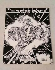 Gottlieb Solar Ride Solid State Pinball Machine Original Manual & Schematics Nos