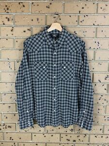 RRL by Ralph Lauren Plaid Check Shirt in Size M