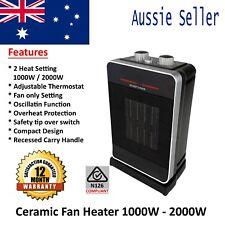 EasyHome 2000W Ceramic Fan Portable Heater 2-Heat Setting & Oscillation Function