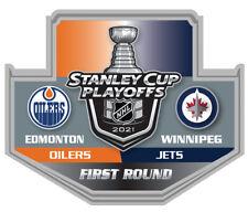 2021 NHL STANLEY Tasse Playoffs Broche Edmonton Oilers/ Jets 1ST Premier Rond