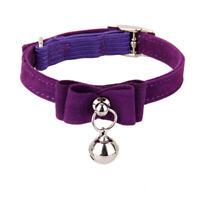Adjustable Pet Kitten Cat Puppy Safety Collar Bell Buckle Neck Strap Purple
