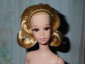 Barbie Repro / Reproduction Blonde Francie No Bangs Lashes NUDE ~ Newly Unboxed