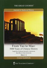 The Great Courses From Yao to Mao: 5000 Years of Chinese History DVD w/Guidebook