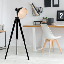 HOMCOM Livingroom Tripod Floor Lamp Lighting Vintage Studio Dome Shade Retro
