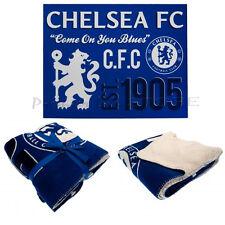 Chelsea F.C. Sherpa Fleece Blanket Official Merchandise