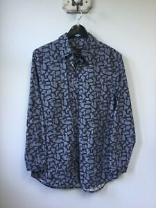 Gorgeous Ladies Jaeger Grey Patterned Long Shirt, UK Size 10, Excellent Conditio