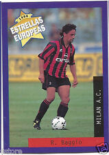 Rare '96 Panini Italy's EUROPEAN SUPER STAR ROBERTO BAGGIO with A.C. MILAN