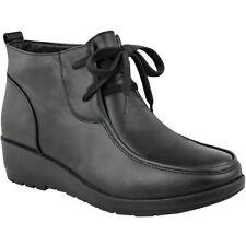 Womens Ladies Ankle Boots Work Office School Shoes Smart Footwear Formal Size UK