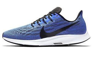 NIKE AIR ZOOM PEGASUS 36 Running Trainers Gym - UK Size 10 (EUR 45) Racer Blue