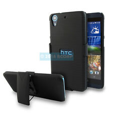 HTC DESIRE 626 626S 625 650 BLACK HARD CASE COVER+BELT CLIP HOLSTER FACE IN/OUT