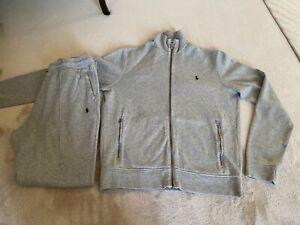 Ralph Lauren mens grey tracksuit size medium