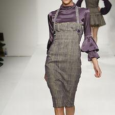 C- 240400 Exquisite Italian Tweed Purple Cotton,silk wool per Yard
