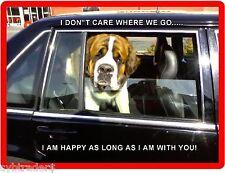 Funny Dog Saint Bernard Refrigerator / Tool Box Magnet Gift Card Insert