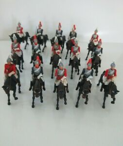 1960's BRITAINS Life Guard Eyes Right mounted toy soldiers x 15 plastic