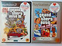 Grand Theft Auto III - 3 / GTA Vice City (PlayStation 2, Map, Manual, PAL, PS2)