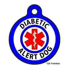 DIABETIC ALERT DOG-Pet ID Tag for Dog Collars! SHIPS FREE!