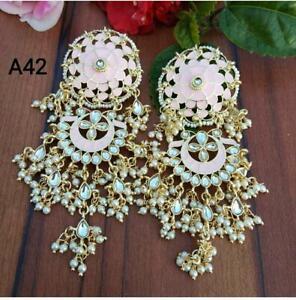Indian Bollywood Gold Plated Jhumka Earrings Ethnic Fashion New Jewelry set sena