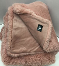 Ugg® Aussie Textured Faux Fur Reversible Throw Blanket in La Sunset 50�x 70�