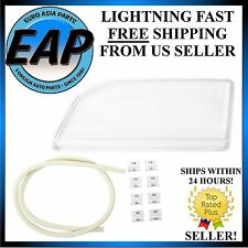 For 2000-2004 Volvo S40 V40 Front Left Headlight Lens with Seal and Clips NEW