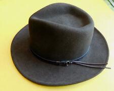 Dorfman-Pacific-DPC-Indiana-Jones-Men-Wool-Brown-Felt-Brim-Fedora-Hat-Small