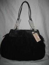 NEW Alexis Hudson Small Black Monaco Crochet Leather Shoulder Bag Handbag Purse