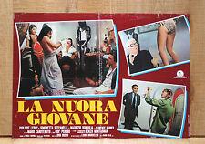 LA NUORA GIOVANE fotobusta poster affiche Philippe Leroy Carotenuto 1975 BJ50